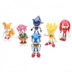 Sonic The Hedgehog & Friends: 6 Pieces PVC Figure Toys